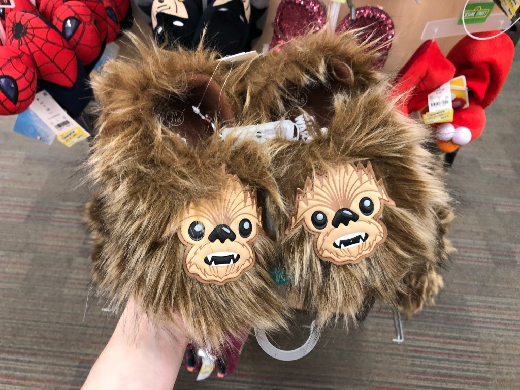 7fe2546250 Toddler Boys  Star Wars Chewbacca Slippers  3.88 (regularly  12.99) Use the  20% off Clearance Apparel   Accessories Cartwheel offer. Final cost  3.10!