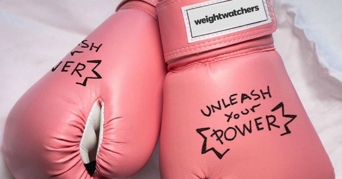 free weight watchers starter program with online plus support – unleash your power pink boxing gloves
