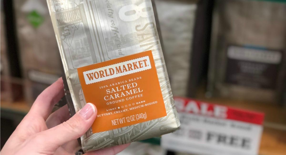 17 bed bath beyond money saving secrets - coffee pouch from World Market