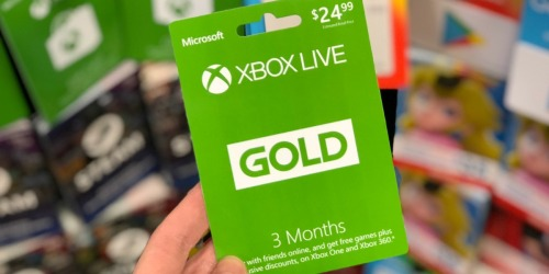 Xbox Live Gold 3 Month Membership Only $12.99 (Regularly $25)