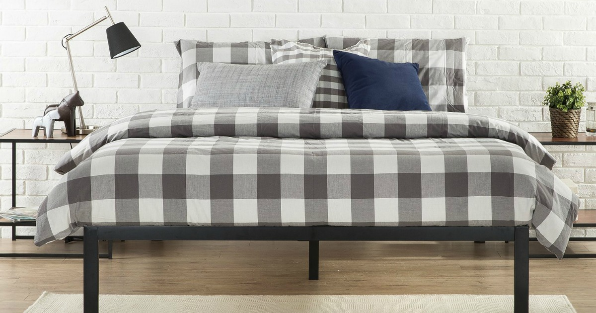 Zinus Modern Studio 14 Inch Queen Platform Bed Frame Only