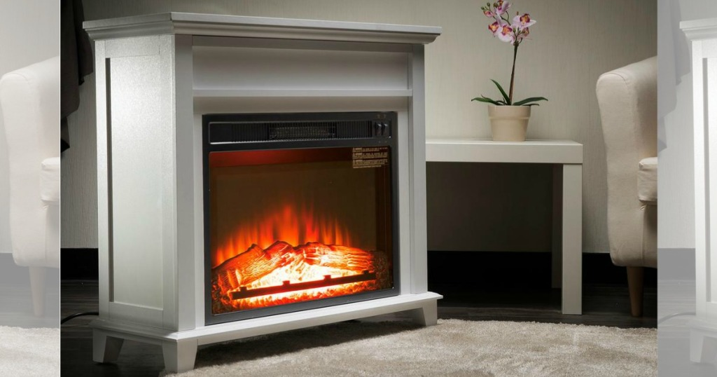 Home Depot Freestanding Electric Fireplace Just 99 99 Shipped