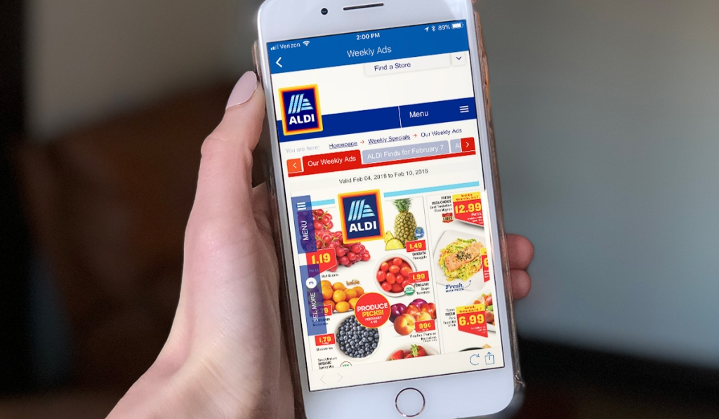 Aldi app on iPhone
