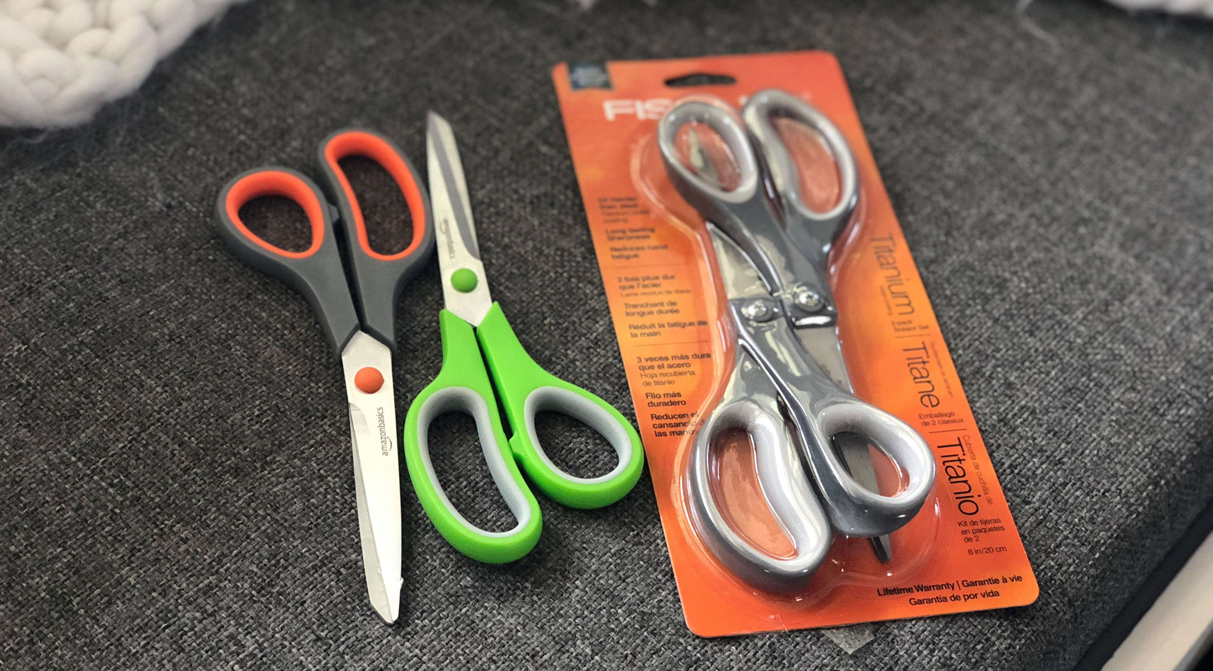 A cost comparison of the Amazon brand cost includes a scissors test.
