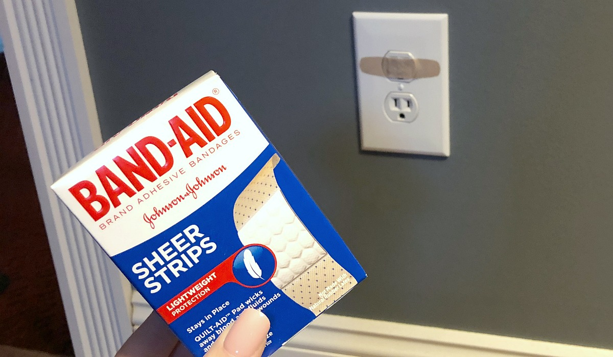 cover outlets with band-aids