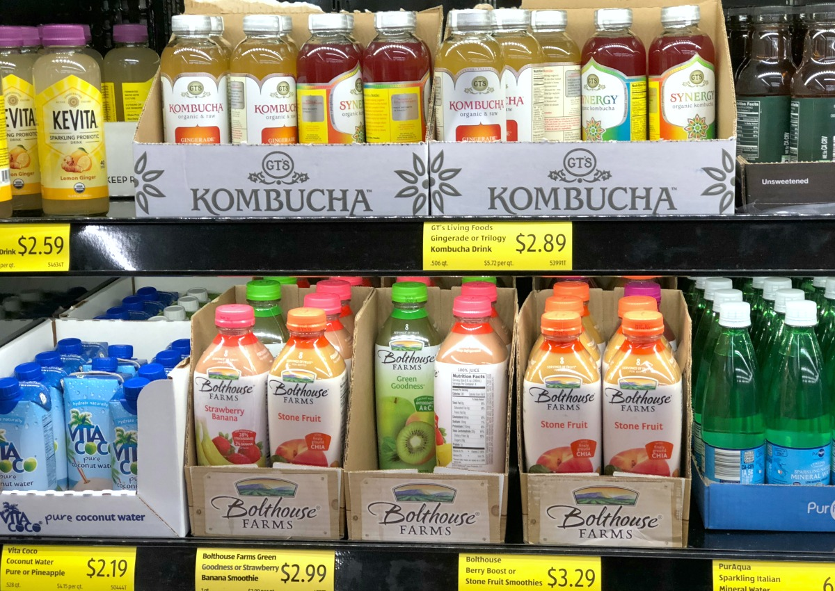 refrigerated juices at Aldi