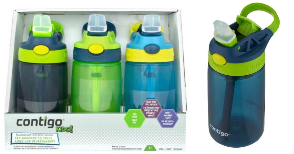 Contigo Kids Water Bottle 3-Pack Only $11 99 at Costco (Just $4 Each)