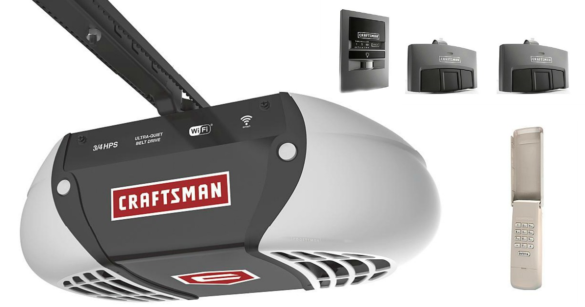 Sears Craftsman Garage Door Opener With Wi Fi Only 179