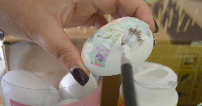 Get Your Craft On With These Simple & Pretty DIY Decoupage Easter Eggs