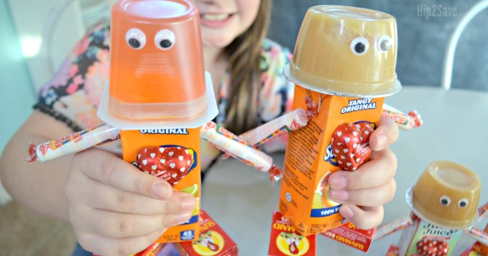 DIY Dollar Tree Valentine's Day Robot Snacks