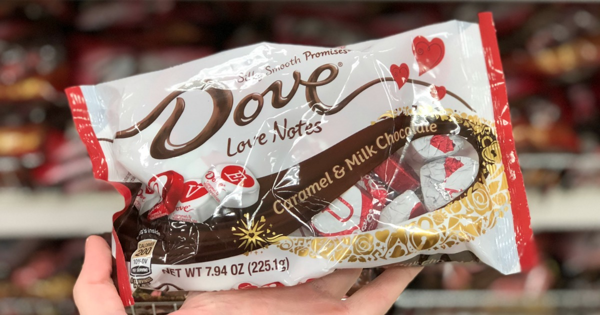 Dove Promises Valentine chocolates in a bag