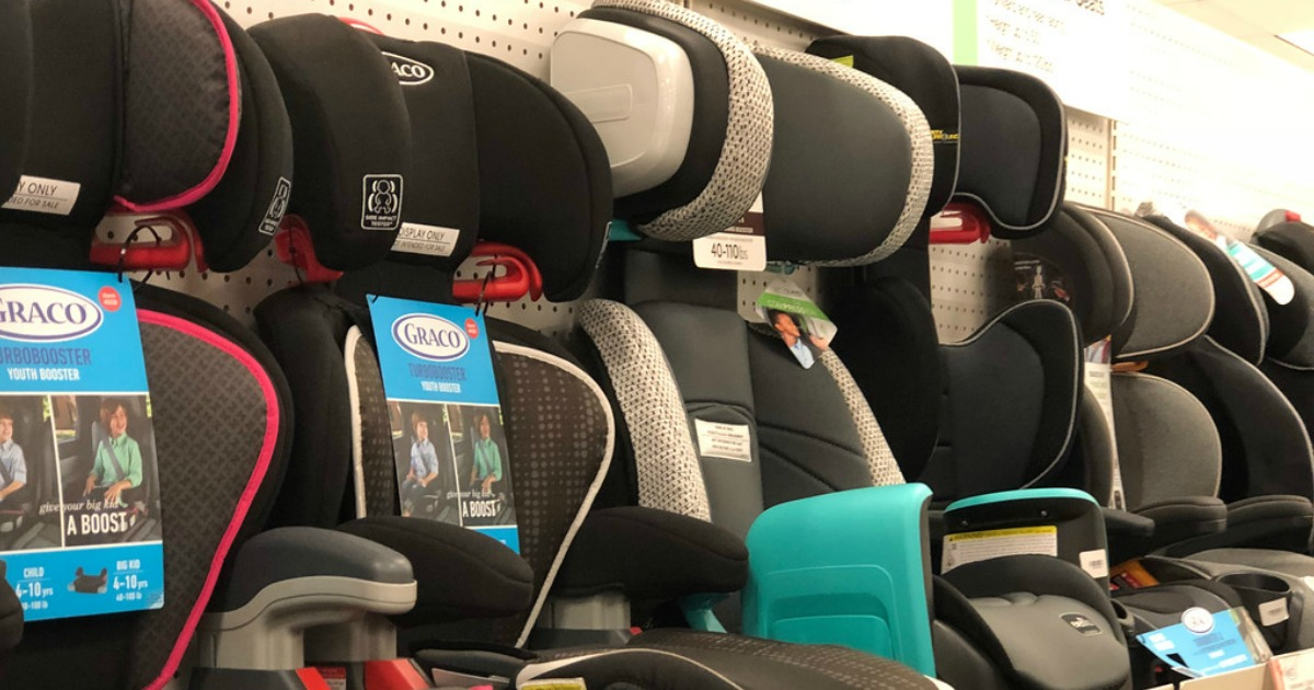 graco car seats on display in store