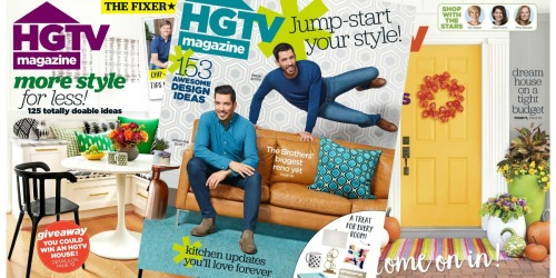 50% Off HGTV Magazine Subscriptions