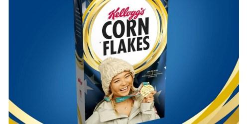 FREE Kellogg's Corn Flakes Gold Medal Chloe Kim Edition Cereal Box