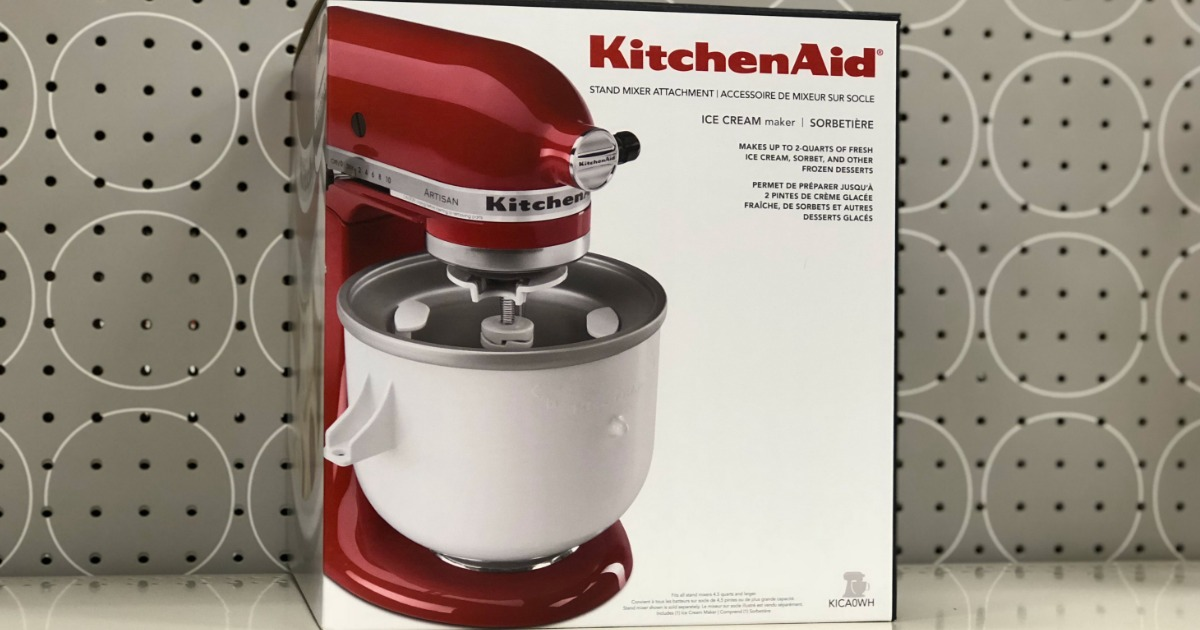 Target Kitchenaid Ice Cream Maker Attachment Only 47 99 Shipped