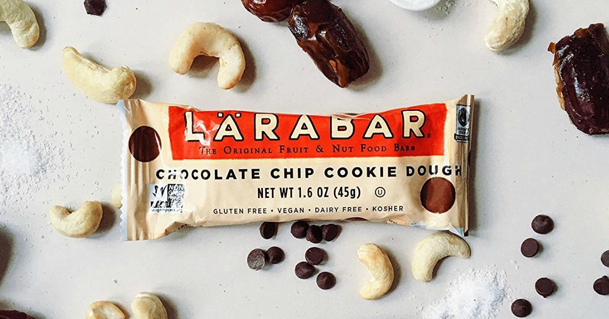 larabar bar laying on top of various ingredients