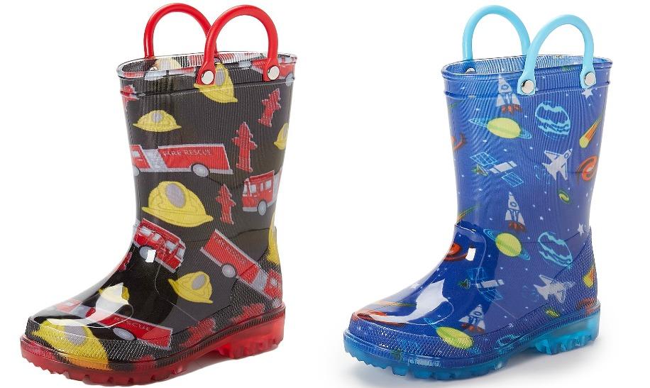 7d64852902776 Black Fireman Light-Up Rain Boots Only  9.79 (regularly  39.99)