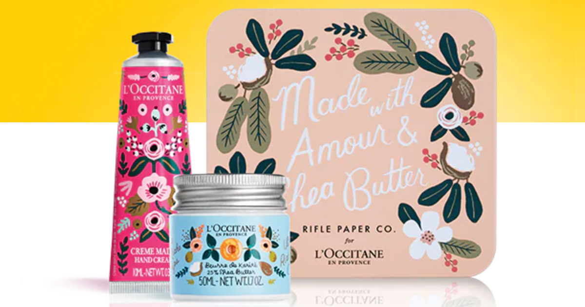 FREE L'Occitane Shea Butter Amour Gift Set ($20 Value) – No Purchase Required In Stores