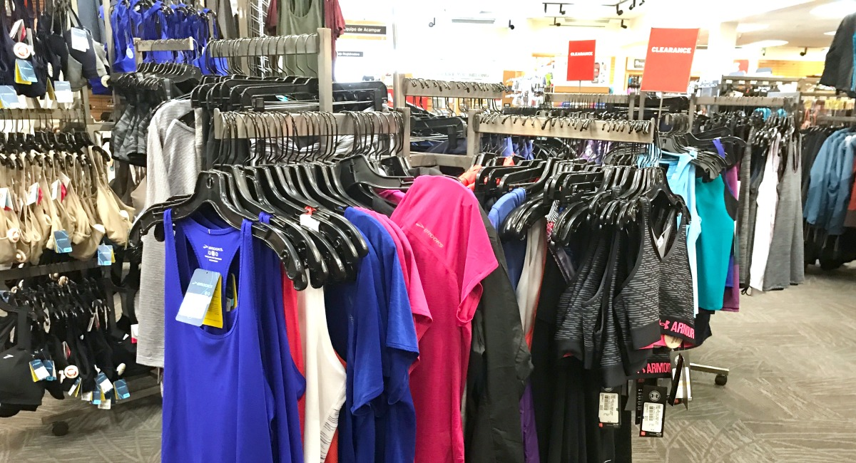 clearance athletic apparel clothing racks