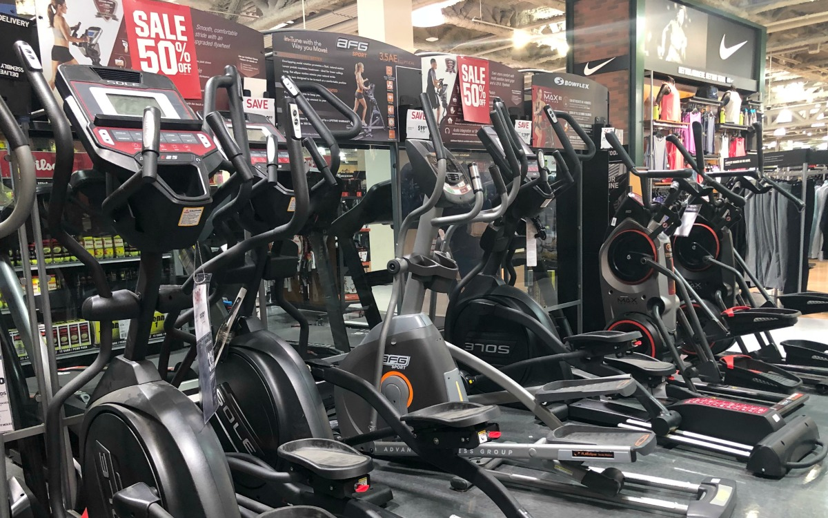 sale on ellipticals and exercise equipment