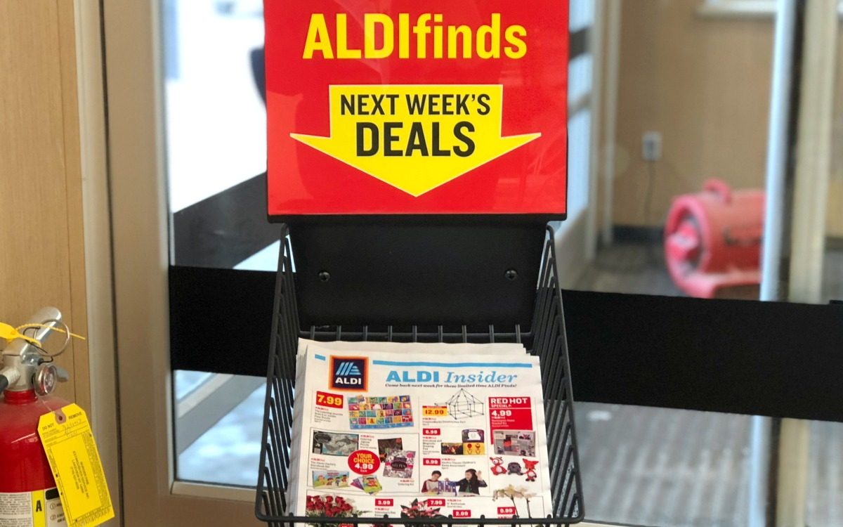 Aldi flyer in-store