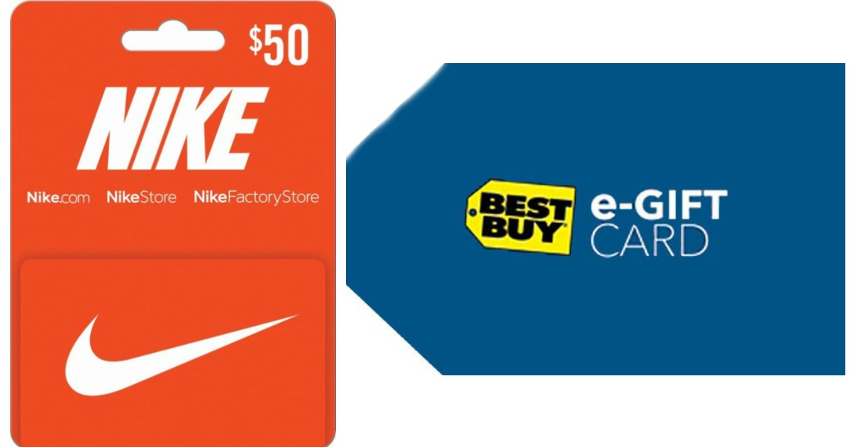 Visible ética Oculto  FREE $10 Best Buy eGift Card with $50 Nike Gift Card Purchase - Hip2Save