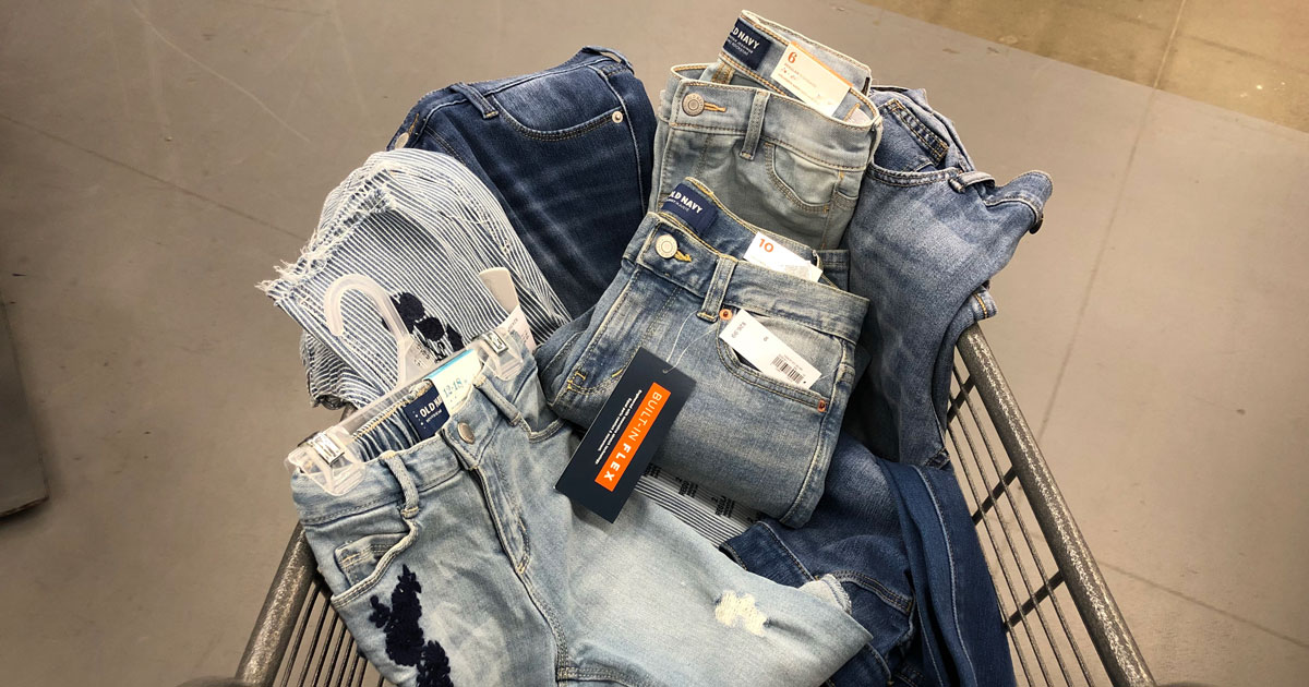 Old Navy Jeans in cart