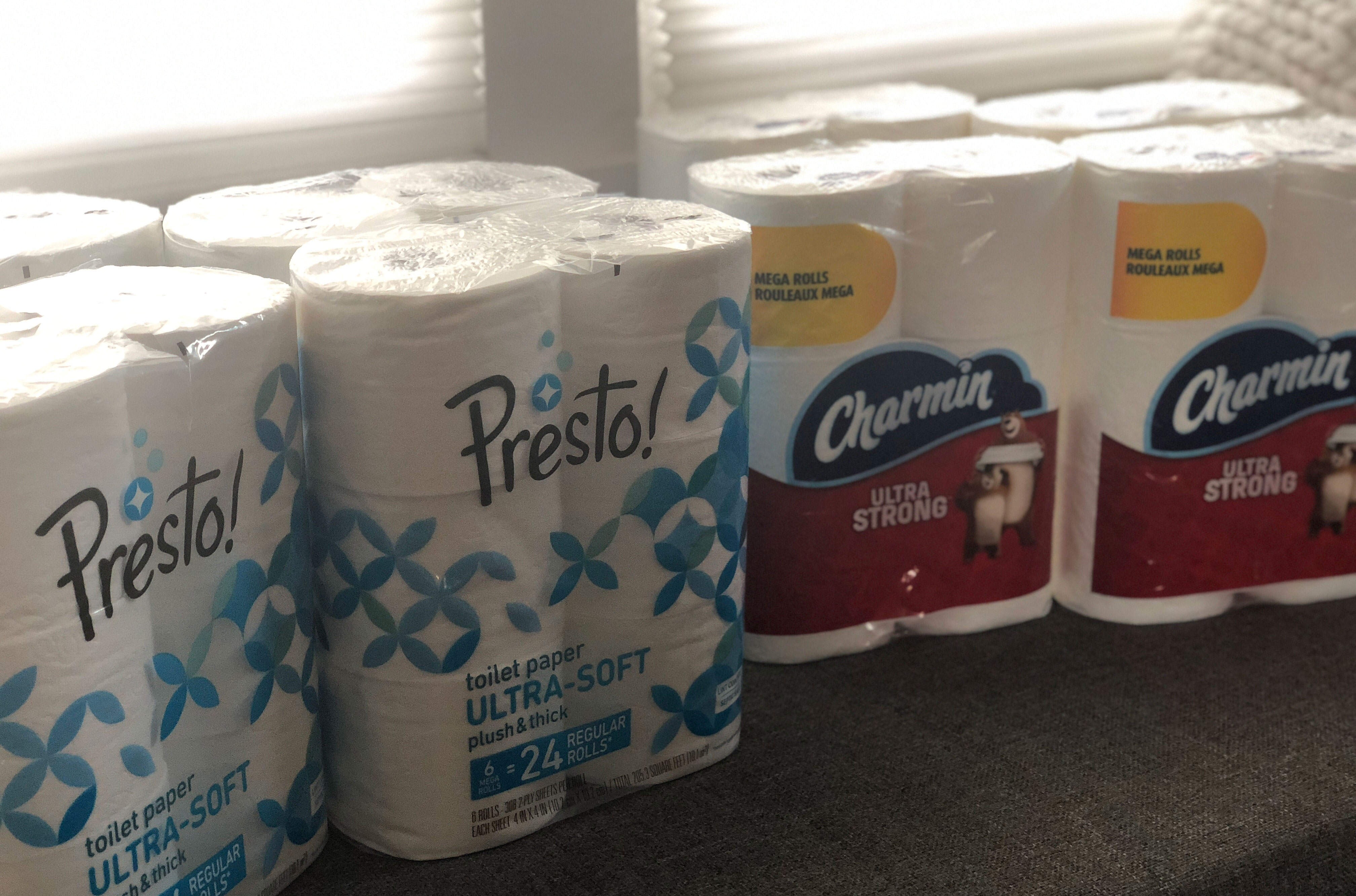 Toilet paper Presto! versus Charmin