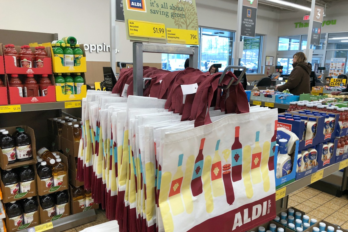 Aldi reusable shopping bags