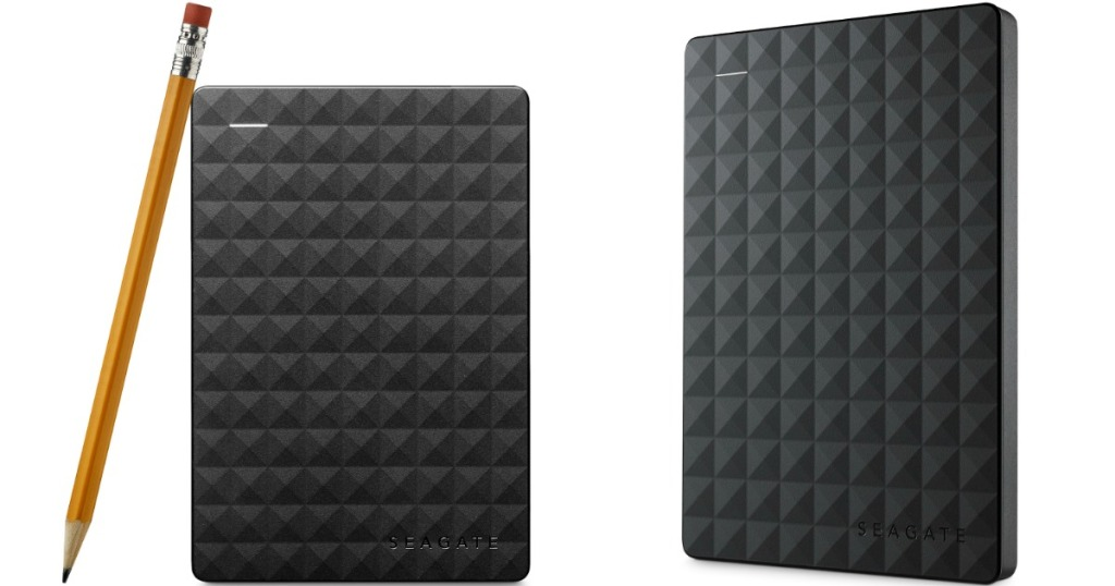 seagate external hard drive with pencil