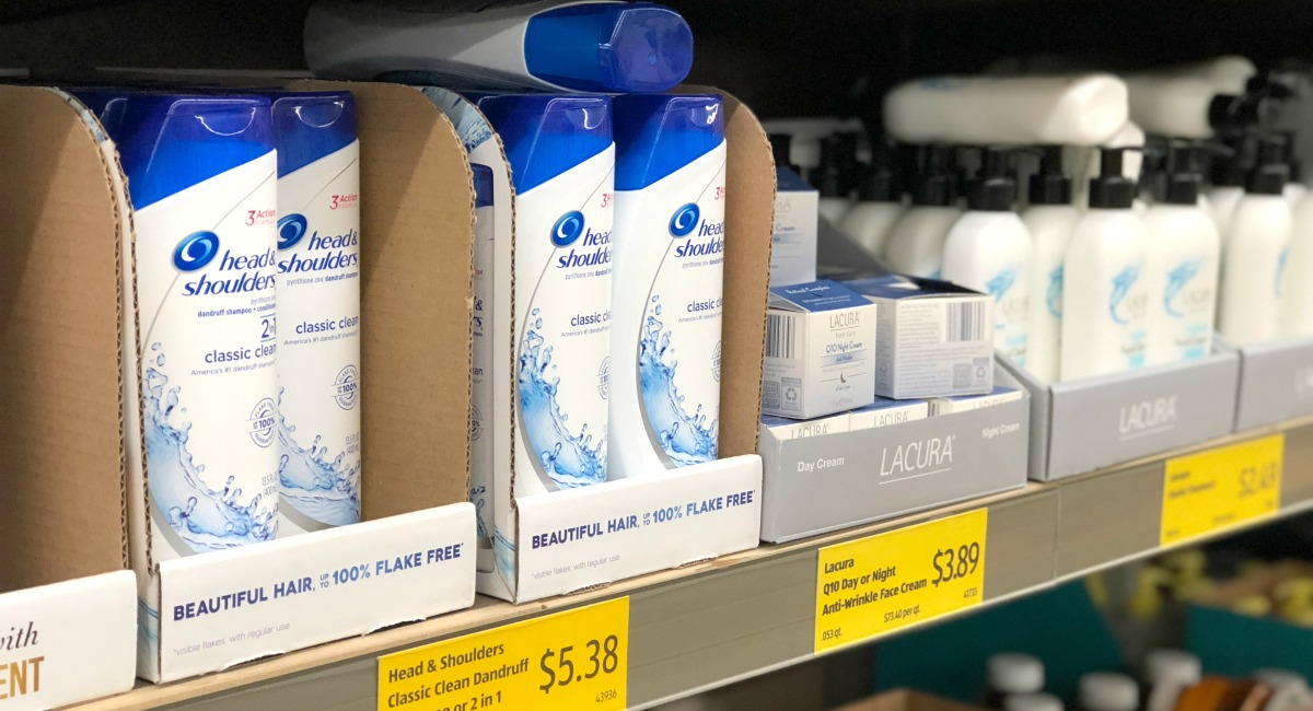 personal care items at Aldi