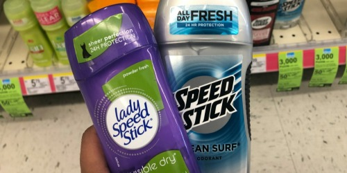 Speed Stick Deodorant Only 24¢ After Rewards at Walgreens