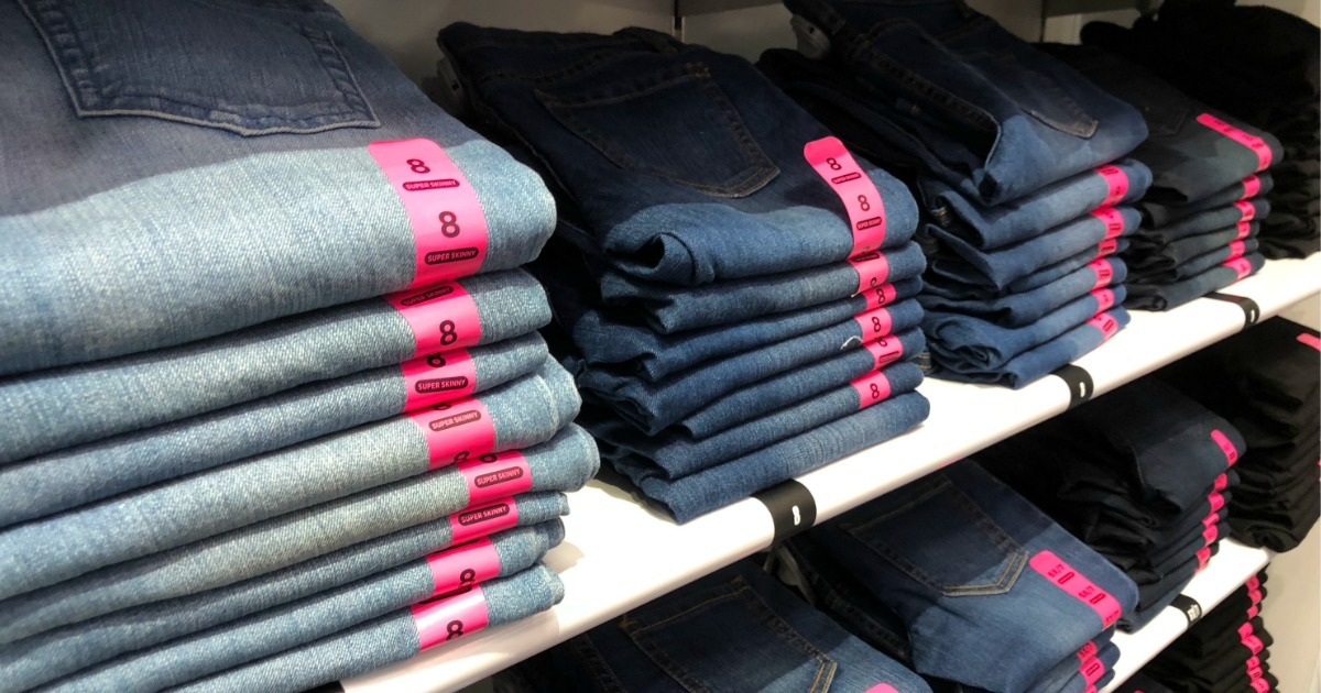 childrens place jeans on shelf