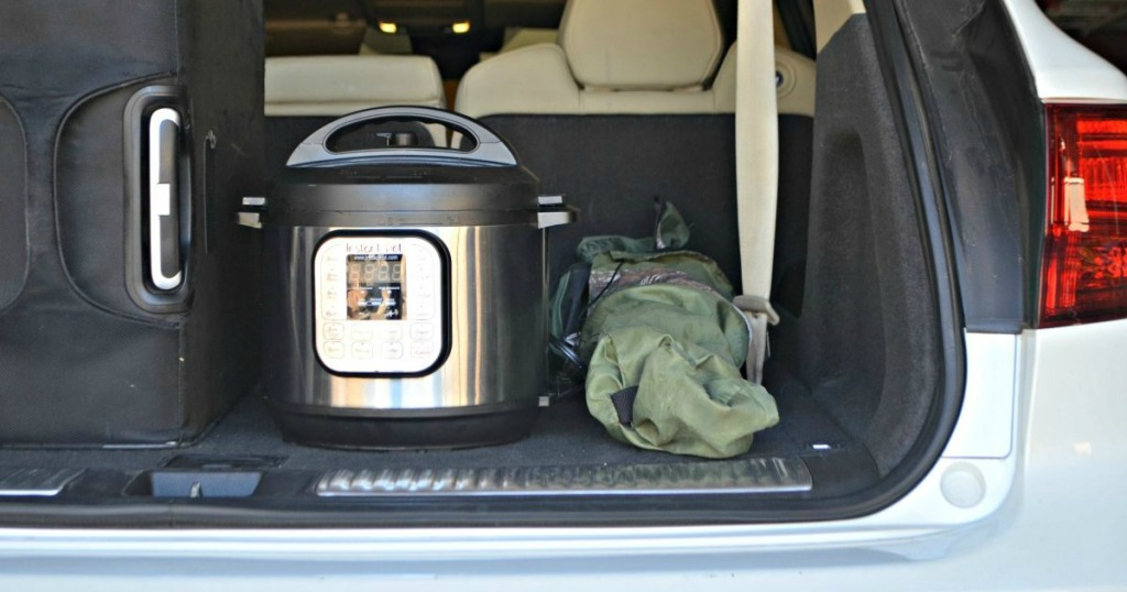 traveling with instant pot in the trunk