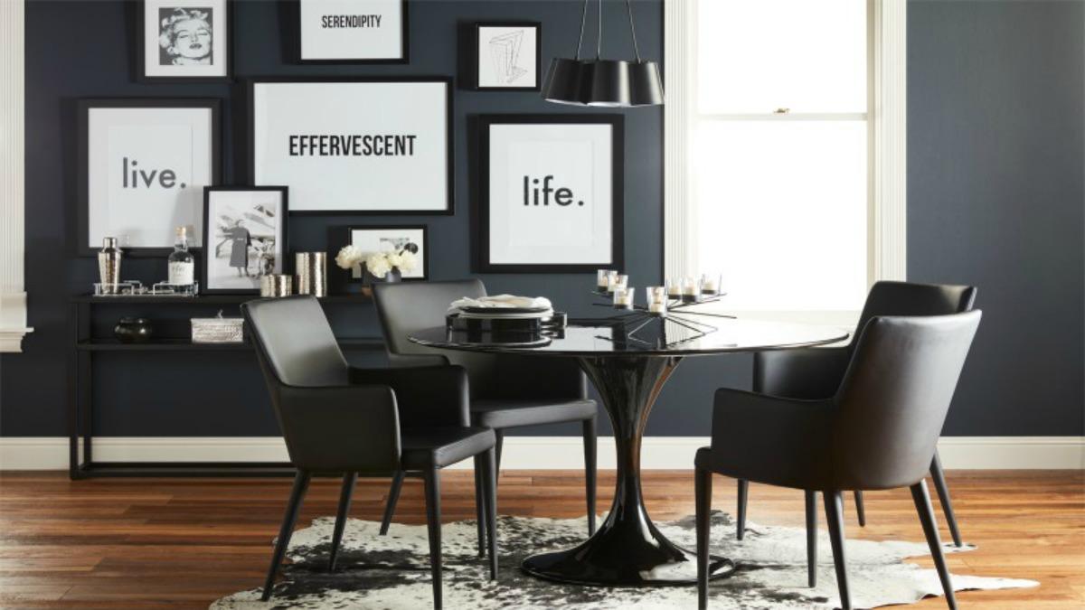 walmart new decor line dining room modern matte black