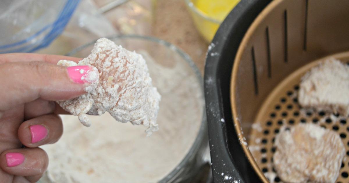 breaded chicken bite for chick-fil-a nuggets recipe