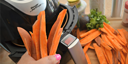 Air Fryer Sweet Potato Fries with Avocado Dipping Sauce
