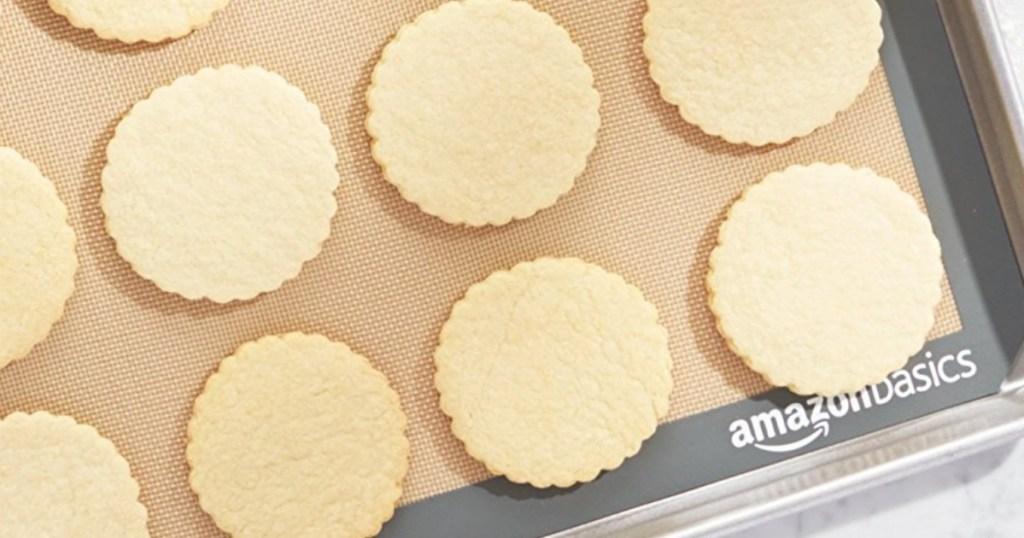 cookies on baking sheet