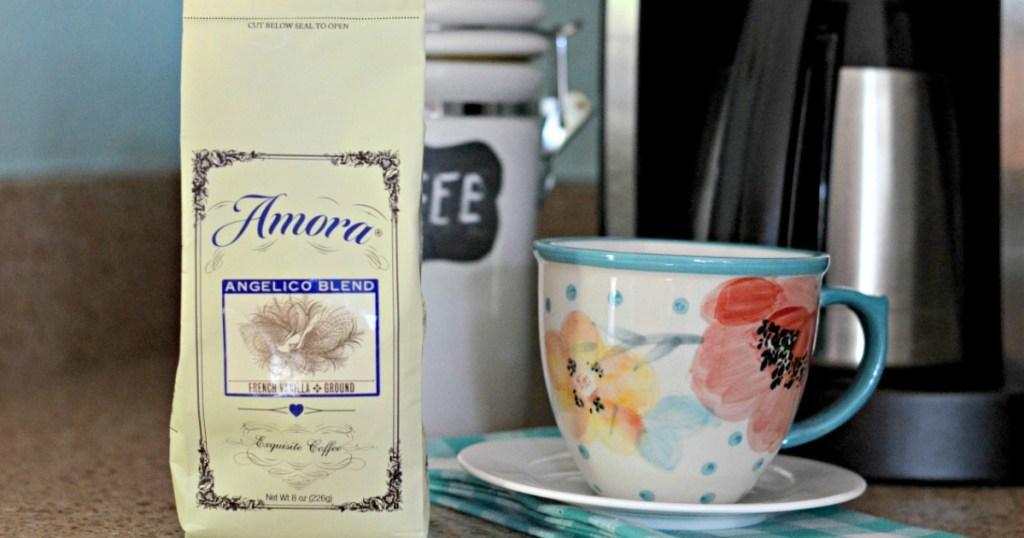 Amora coffee with coffee mug