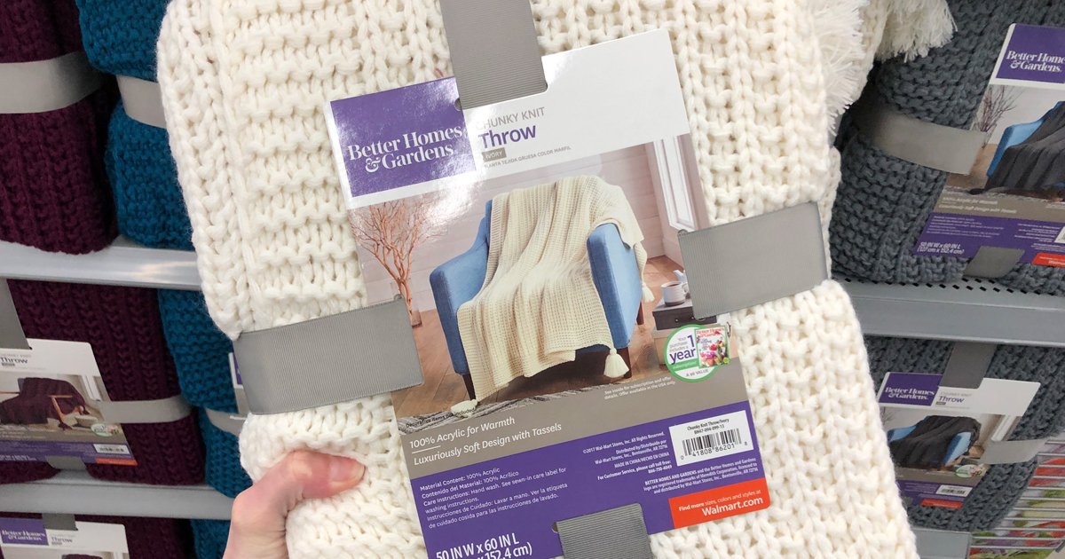 Better Homes Gardens Throw Blankets Possibly Only 40 At Walmart Awesome Better Homes And Gardens Throw Blanket