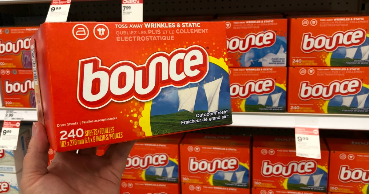 boxes of bounce dryer sheets