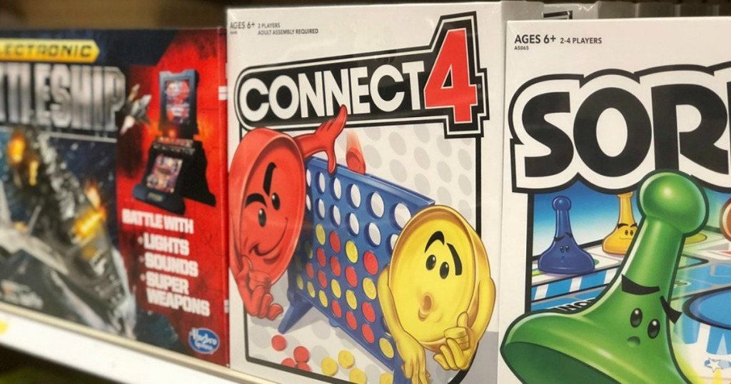 Conect 4 and Sorry game in-store