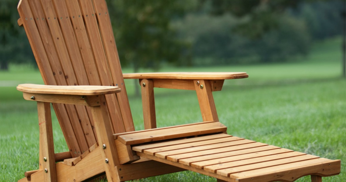 Adirondack Chair With Pull Out Ottoman Just 68 88 Shipped
