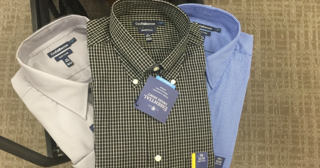 b927d0052 Head on over to Kohl's where they have dropped the price on Croft & Barrow  or Apt 9 Dress Shirts to 3/$30 or as low as $11.99 each!