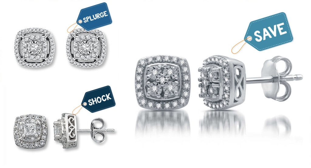 diamond earrings with price comparisons
