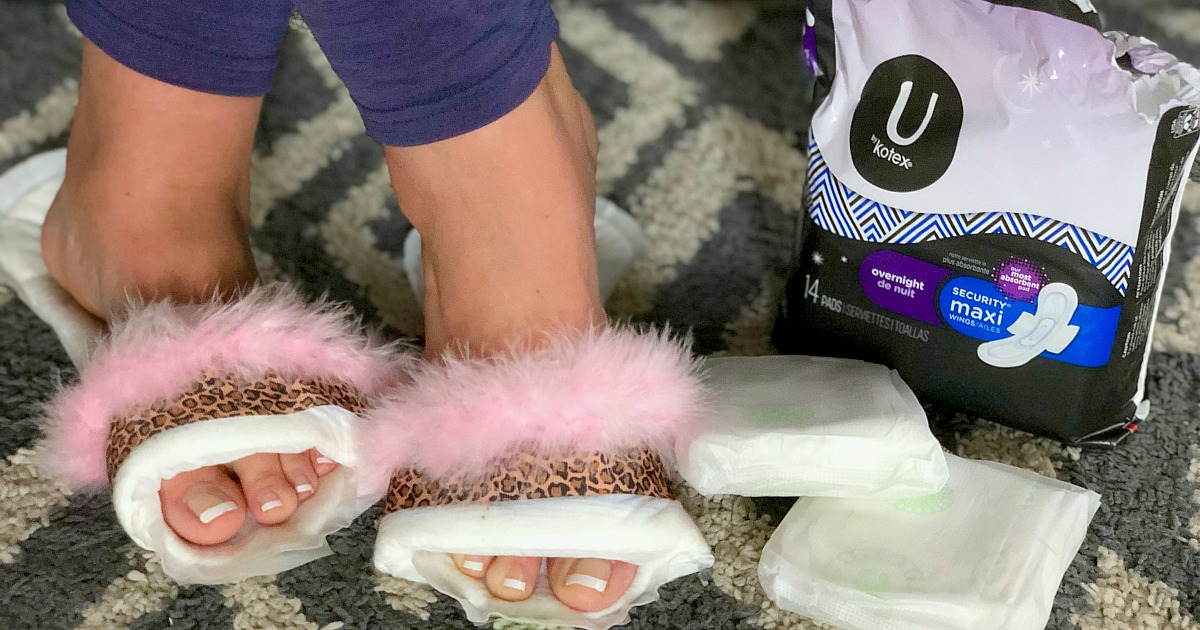 diy maxi pad slippers for sale hip2save