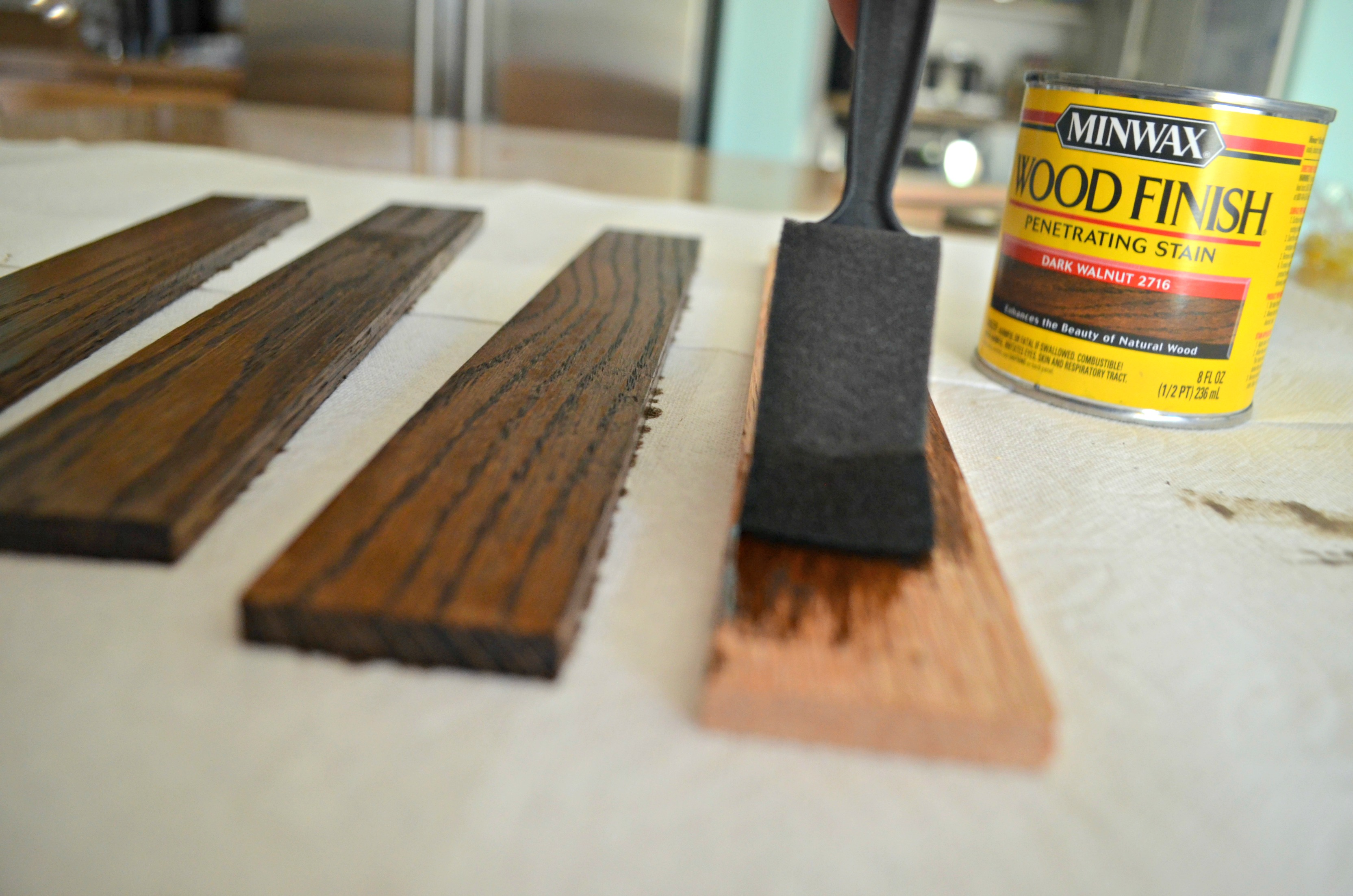 Use your favorite wood stain on your wooden frame or leave bare.