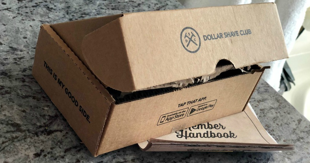 dollar shave club kit deal – closeup of the box