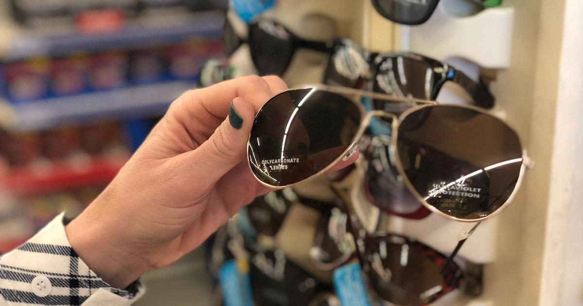 sunglasses at Dollar Tree