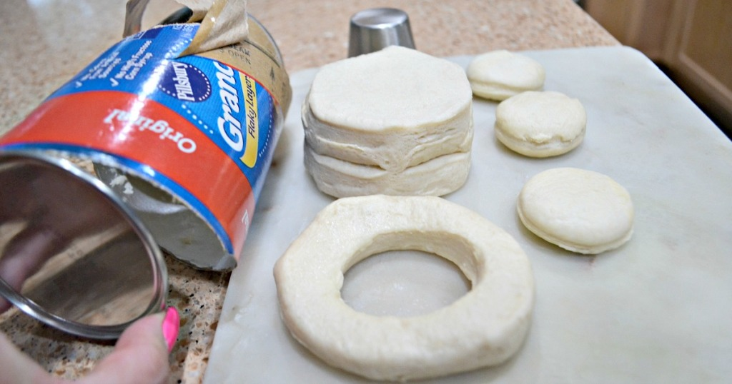 donuts from biscuit dough
